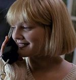 Drew Barrymore takes a call from the killer in Scream