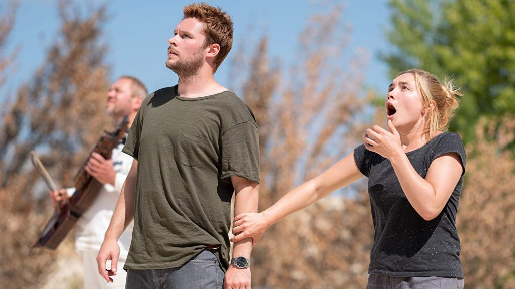 Jack Reynor and Florence Pugh in horror movie Midsommar