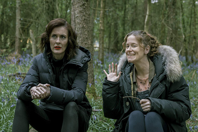 Katie Brayben and Poppy Roe in A Serial Killer's Guide to Life