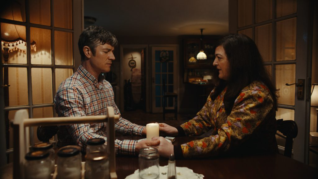 Barry Ward and Maeve Higgins in Extra Ordinary