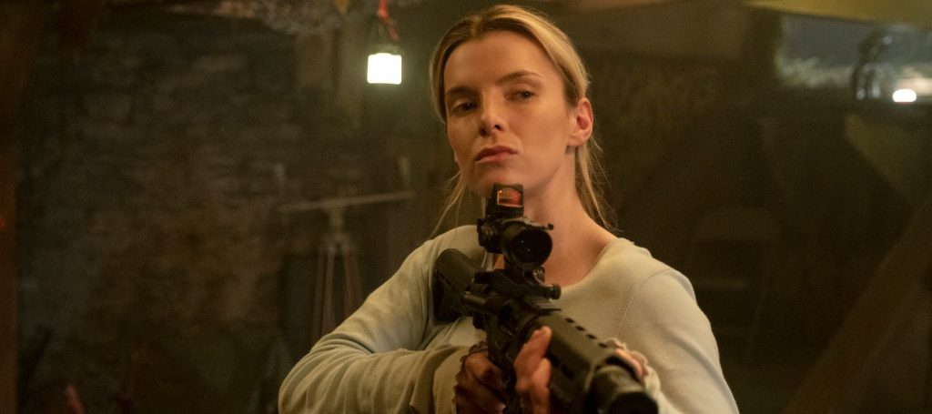 """Betty Gilpin as Crystal in """"The Hunt,"""" directed by Craig Zobel."""